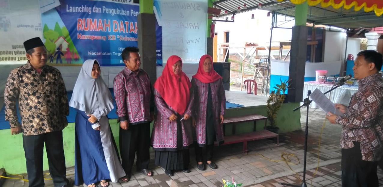 Launching Rumah Dataku Kampung KB Sidomulyo
